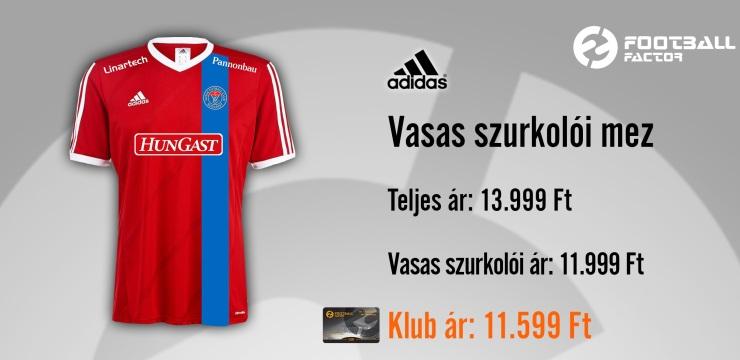 A Football Factor Andrássy úti boltjában mától megvásárolható vagy  interneten megrendelhető a drukkerek által kiválasztott Vasas Szurkolói mez! 1b292a3573